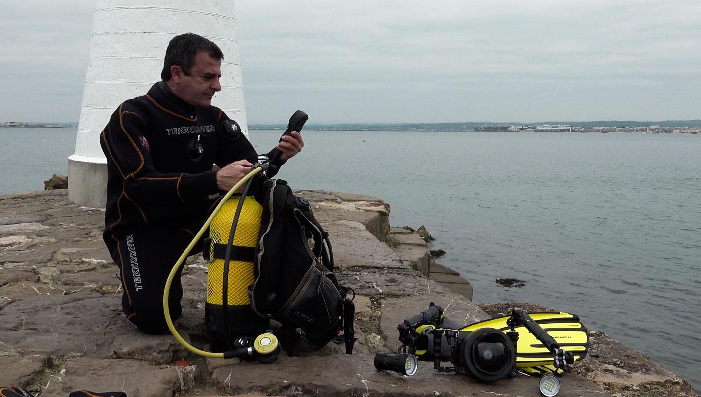 matériel de vidéo sous marine